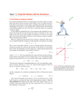 Topic 1 | Projectile Motion with Air Resistance