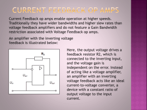 feedback current amplifier