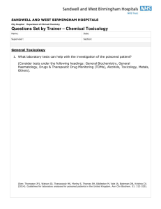 Chemical Toxicology Questions