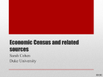 Economic Census and related sources