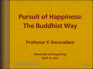 Pursuit of Happiness: The Buddhist Way
