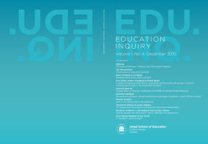 Social justice in education revisited - Co