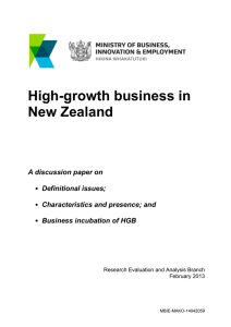 high-growth firms in New Zealand - Ministry of Business, Innovation