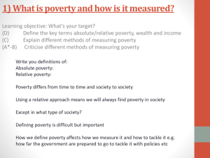 Poverty - Miss Rose Sociology
