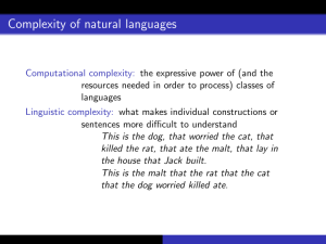 Complexity of natural languages