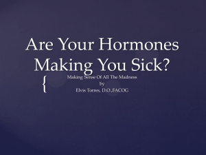 Are Your Hormones Making You Sick?