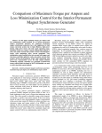 Comparison of Maximum Torque per Ampere and Loss Minimization