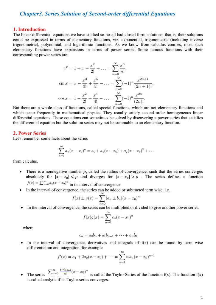 Chapter3  Series Solution of Second