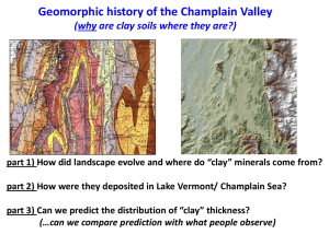 Geological Context of Clays in the Champlain Valley