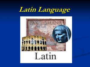 Latin Language