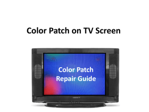 How to Remove Colour Patch in the TV set