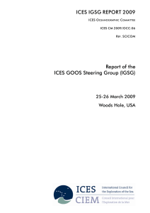 Report of the ICES GOOS Steering Group (IGSG)