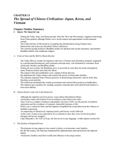 Japan, Korea, and Vietnam Chapter Outline Summary