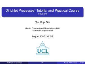 Dirichlet Processes: Tutorial and Practical Course (updated)
