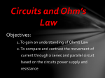 Circuits and Ohm*s Law