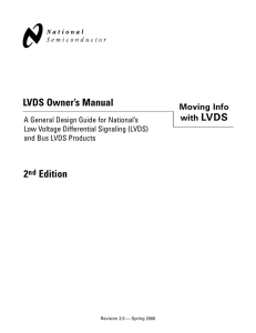 LVDS Owner`s Manual - Moving info with LVDS