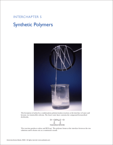 Synthetic Polymers - McQuarrie General Chemistry