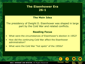 26-1 The Eisenhower Era ppt
