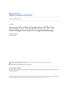 Assessing The Clinical Application Of The Van Herk Margin Formula