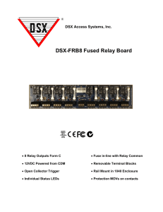 DSX-FRB8 Fused Relay Board