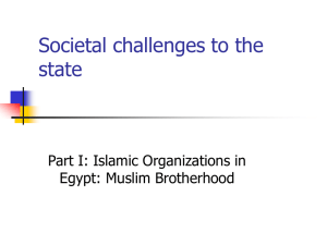 Islamic Organizations in Egypt and Turkey