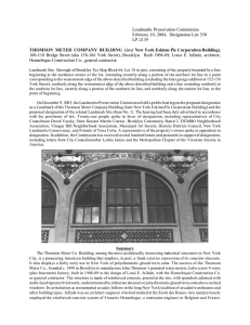 Thomson Meter Company Building Designation Report