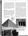 The mastaba (above) was the forerunner to the pyramid (left) and a