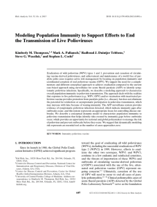 Modeling Population Immunity to Support Efforts to End the