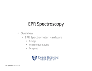 EPR Spectroscopy