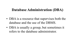 Database Administration (DBA)