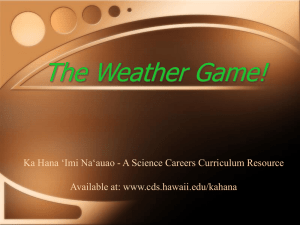 Pretest Weather Game