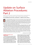 update on Surface ablation procedures: part 2