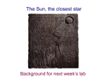 The Sun, the closest star - University of Iowa Astrophysics
