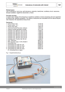 TEP Inductance of solenoids with Cobra3 TEP Inductance of
