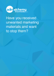 Have you received unwanted marketing materials and want to stop