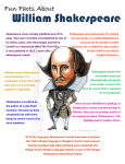 Fun Facts About Shakespeare Handout