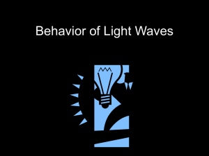 Behavior of Light Waves