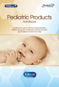 Pediatric Products - Mead Johnson Nutrition