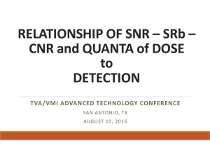 RELATIONSHIP OF SNR – SRb – CNR and QUANTA of DOSE to