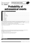Probability of astronomical events