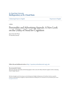 Personality and Advertising Appeals: A New Look on the Utility of