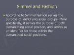 Simmel and Fashion