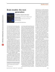 Brain models: the next generation