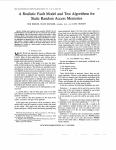 A realistic fault model and test algorithms for static random access