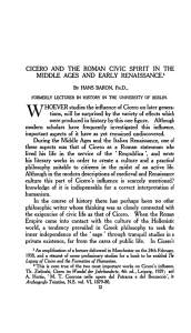 cicero and the roman civic spirit in the middle aces and early