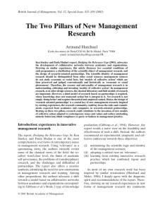 The Two Pillars of New Management Research