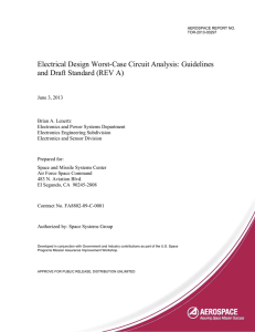 Electrical Design Worst-Case Circuit Analysis: Guidelines and Draft