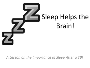 Sleep Helps the Brain!