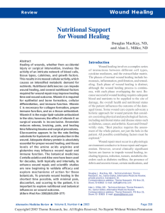 Nutritional Support for Wound Healing
