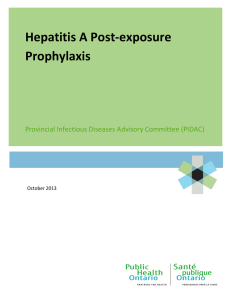 Hepatitis A Post-exposure Prophylaxis